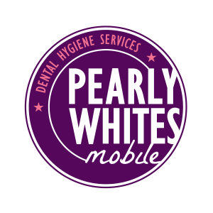 purple pearly whites mobile logo circle