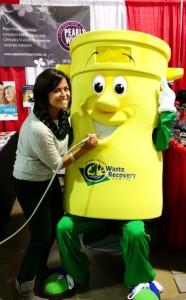 Toby the yellow bin from the Ottawa Valley Waste Recovery Centre